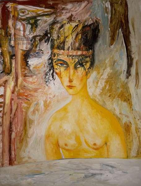 Seated Figure, 1980s (oil on canvas)