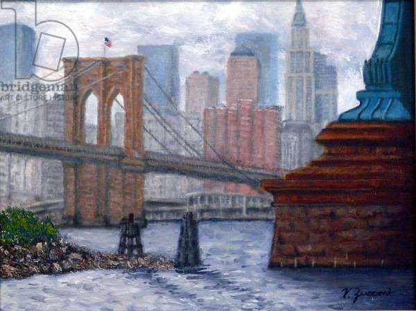 Brooklyn Bridge, 2002, (oil on canvas)