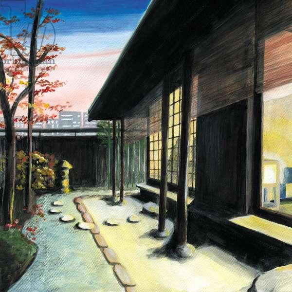 Japanese restaurant,2013,(Acrylic paint on paper)