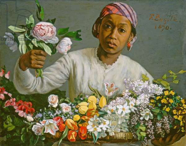 Young Woman with Peonies, 1870 (oil on canvas)