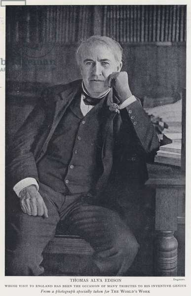 Thomas Alva Edison (b/w photo)