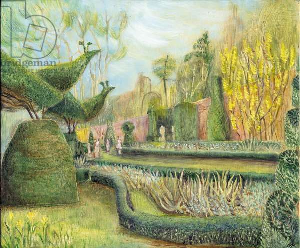 The Long garden, Cliveden: Topiary