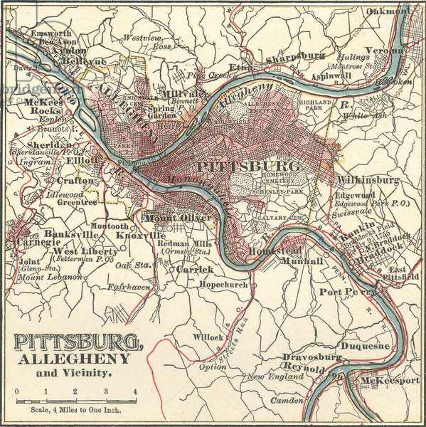 Map of Pittsburgh