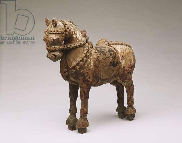 Horse (wood with polychrome decoration)