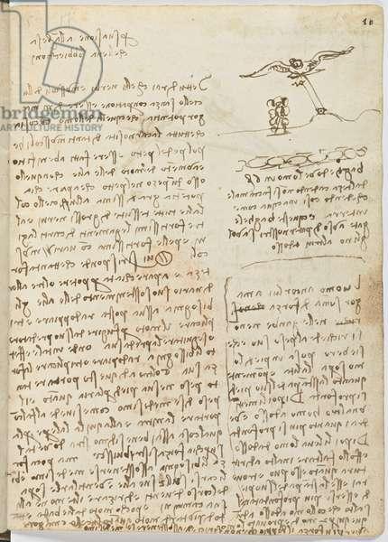 Birds Flight Code, c. 1505-06, paper manuscript, cc. 18, sheet 16 recto