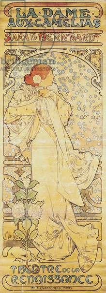 """""""La Dame aux Camélias"""", with Sarah Bernhardt, 1890-1910 (lithograph)"""