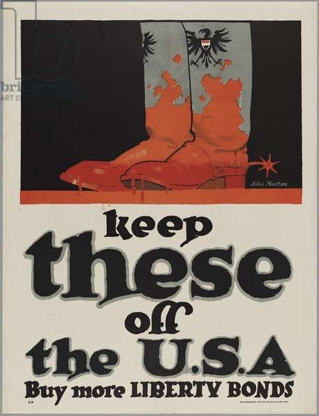 Keep These Off the U.S.A.-Buy More Liberty Bonds, 1918 (colour litho)