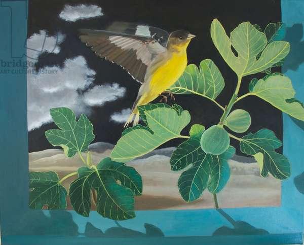 Caught in Flight, 2011, (oil on canvas)