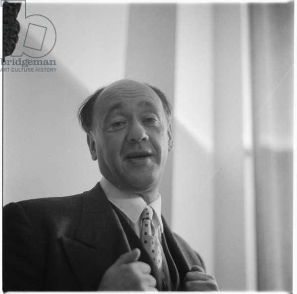 Eugene Ionesco in Paris, c.1955 (b/w photo)
