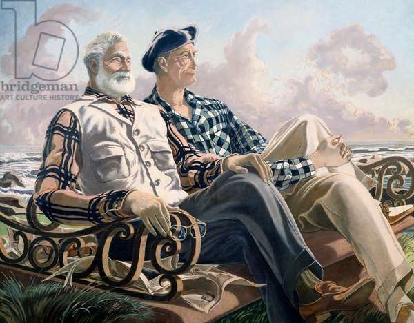 Conversation Piece, Just Leisure or Hemingway and Dunabeitia, 1957