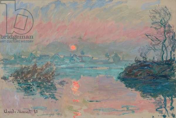 Sunset at Lavacourt; Coucher de soleil a Lavacourt, 1880 (oil on canvas)