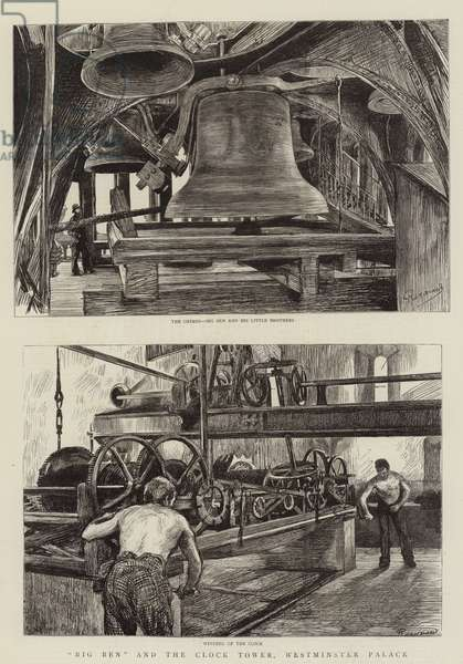 """""""Big Ben"""" and the Clock Tower, Westminster Palace (litho)"""