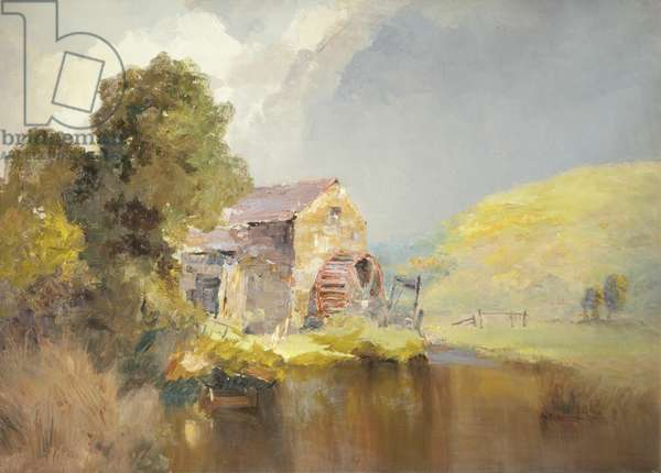 Baldwin Mill, 1896 (oil on canvas)