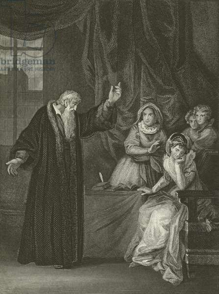 Mary Queen of Scots reproved by Knox (engraving)