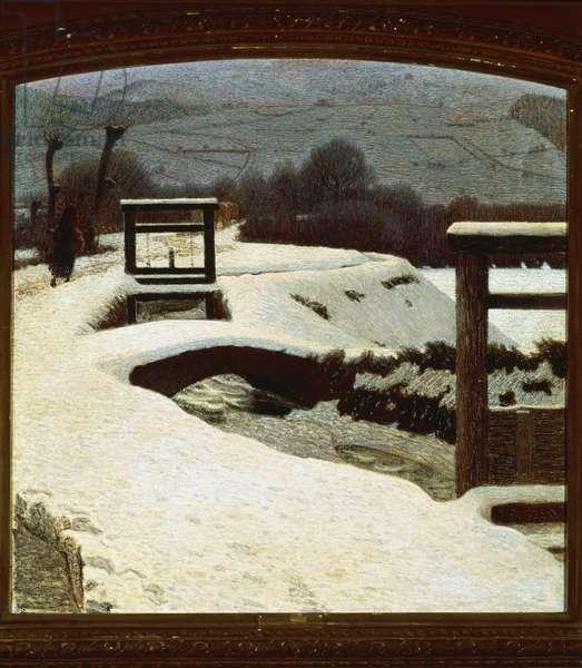 Snow, by Giuseppe Pelizza da Volpedo, 1906, oil on canvas