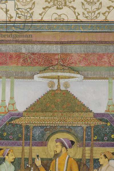 Detail from The Emperor Shah Jahan on the 'Peacock Throne', 1640 (opaque w/c & gold on paper)