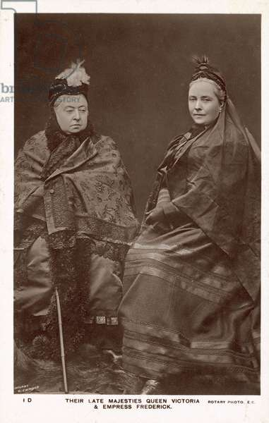 Queen Victoria, Empress Frederick (b/w photo)
