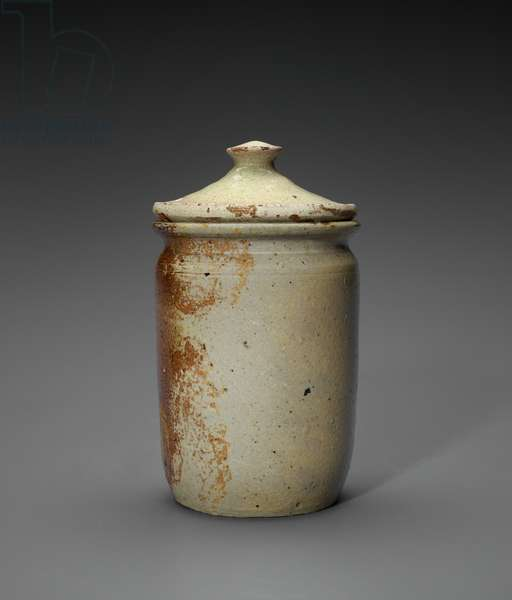 Preserve Jar with Lid, c.1869-1884 or c.1869-1903 (salt-glazed stoneware with brown slip interior)