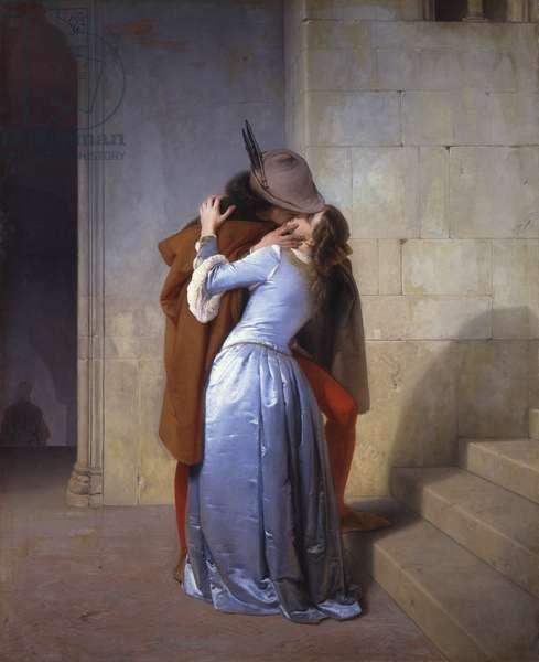 The Kiss, 1859 (oil on canvas)