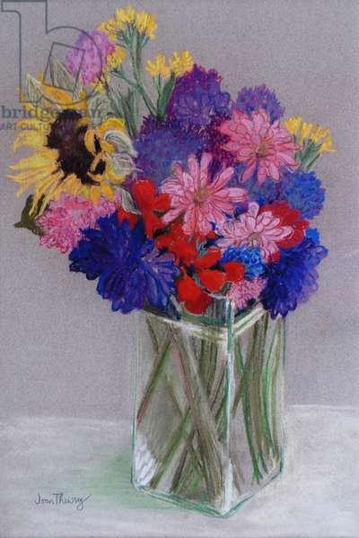 Jan's Flowers, 2010, (pastel)