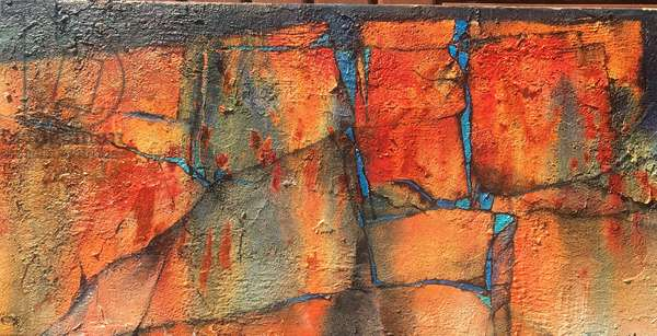 Ancient walls, 2021 (acrylic on canvas)