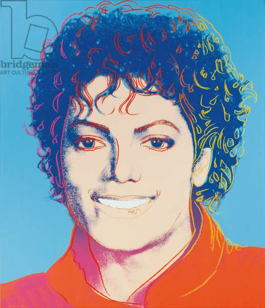 Michael Jackson, 1984 (synthetic polymer and silkscreen ink on canvas)