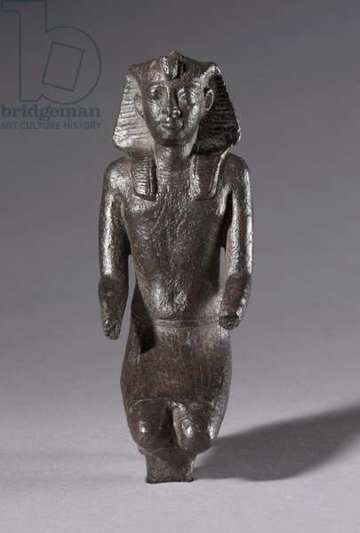 Statuette of Kneeling King, Greco-Roman Period, 304-30 BC (bronze)