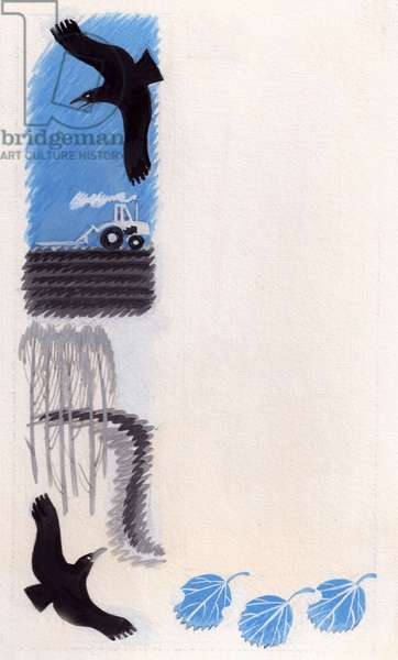 Illustration from 'The Spark' by Elena Blaginina, 1960 (gouache on paper)