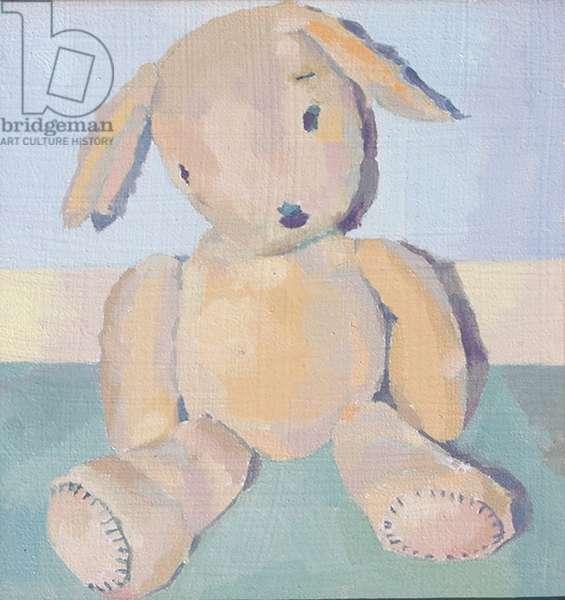 'Inevitable - Teddy', 2014, (oil on board)