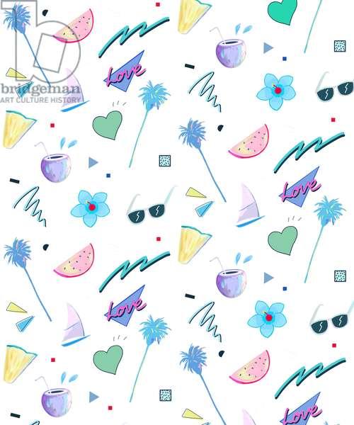 Summer Pattern, 2015 (digital illustration)