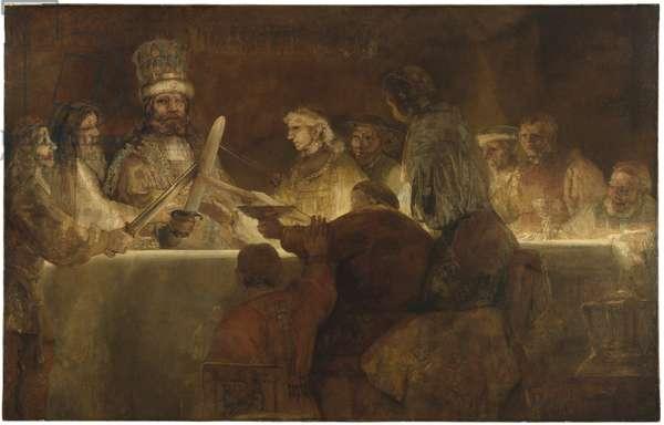 The Conspiracy of the Batavians under Claudius Civilis, c.1666 (oil on canvas)