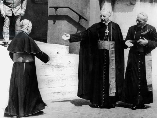 Cardinal Karol Wojtyla (Karol Wojtyla), Future Pope John Paul Ii, in August 1978 (b/w photo)