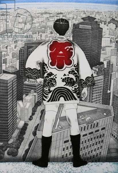 Top man, 2007,(etching)