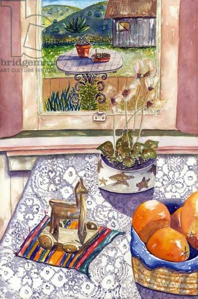 Orange Still, 1993, (watercolor)