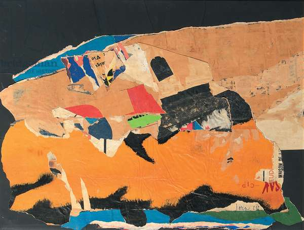 Untitled, 1964 (paper collage on board)