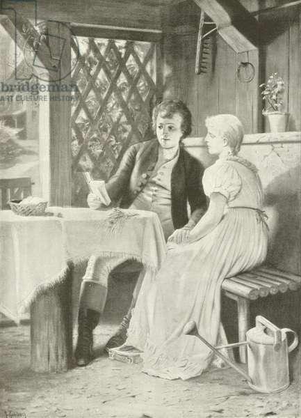 Goethe and Frederike (gravure)