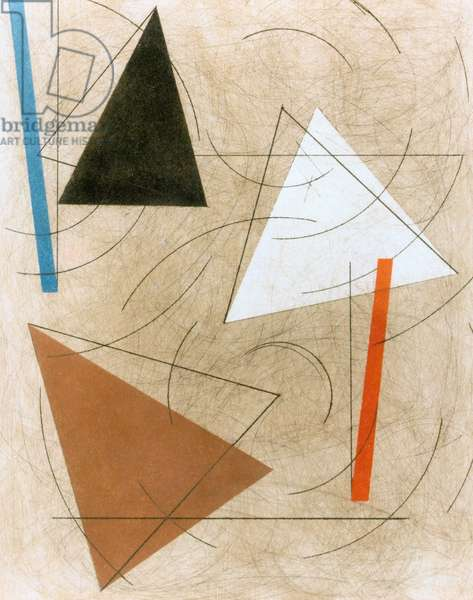 Three Triangles, 1991 (alkyd on panel)
