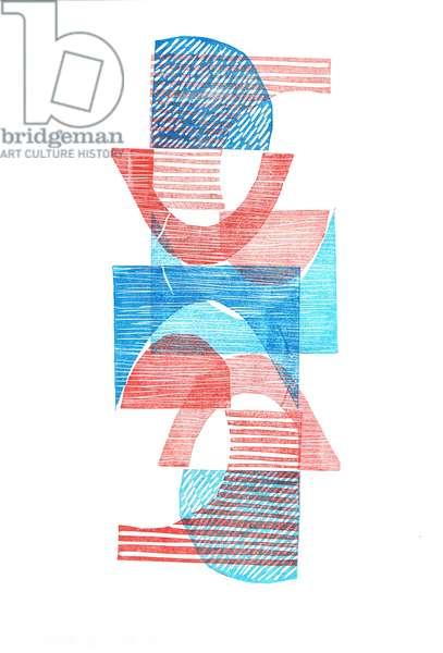 1961 VI, 2016, (linocut print on paper)