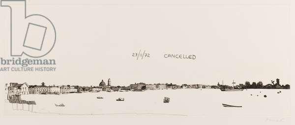 The Bacino, Venice (etching)
