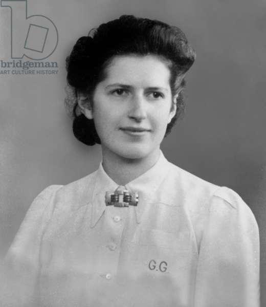 Genevieve de Gaulle Anthonioz, c.1945 (b/w photo)