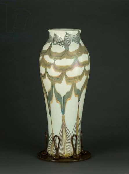 Vase, c.1895-96 (glass & bronze)