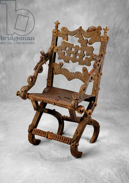 Chief's Chair, Asante Culture (wood, metal & leather)