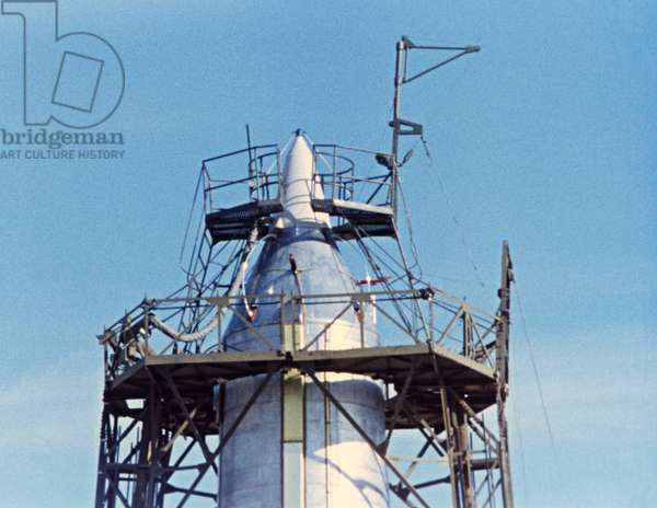 Kazakh Ssr, the Baikonur Cosmodrome, the Third Sputnik is Pictured on the Launch Pad, May 15, 1958.