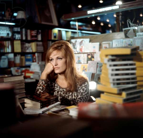 Singer Dalida in A Bookshop C. 1968 (photo)