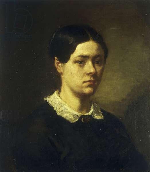 Portrait of Madame J.F. Millet, c.1844 (oil on canvas)