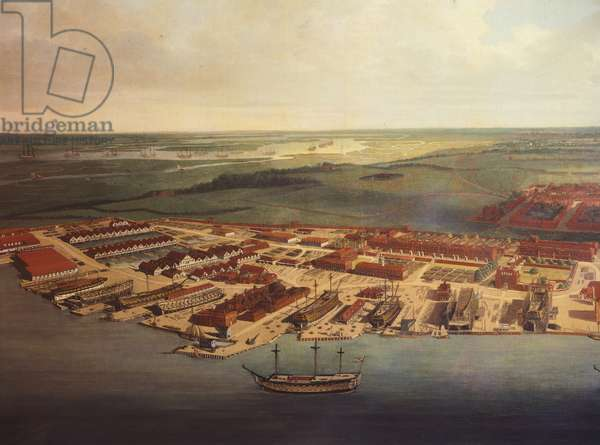The Royal Dockyard in Chatham, by Joseph Farington, 1785-94 (detail)