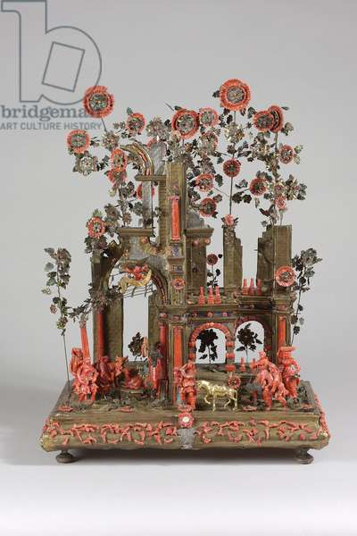 Trapani Nativity Group, 1650-1700 (coral, silver, gilt-copper and enamel)
