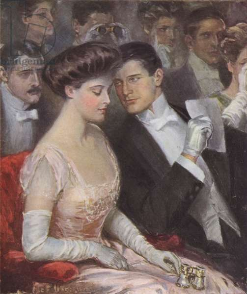 The only two at the opera (colour litho)