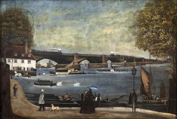 View of the Thames, c.1870 (oil on canvas)