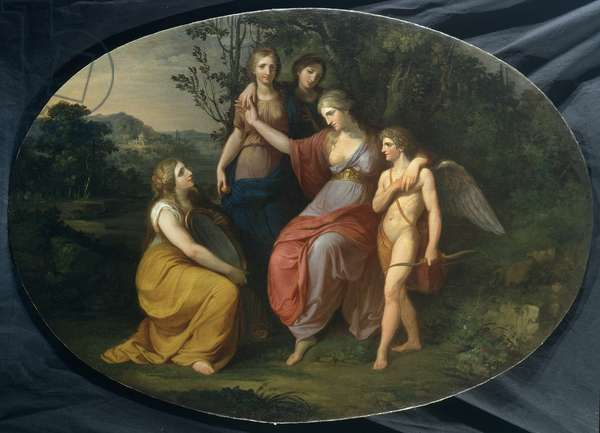 The toilette of Venus, 1790 (oil on canvas)